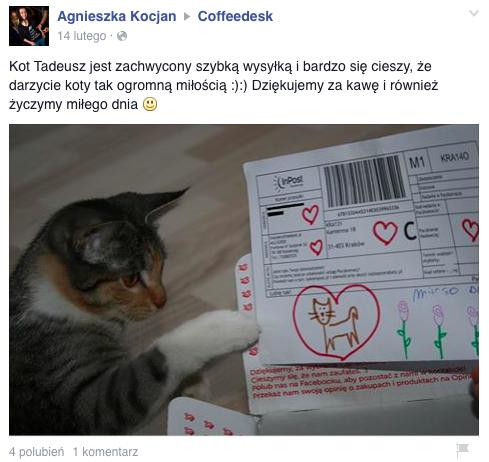 coffeedesk przesyłka