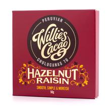 Willie's Cacao - Czekolada z orzechami i rodzynkami - Hazelnut Raisin 50g