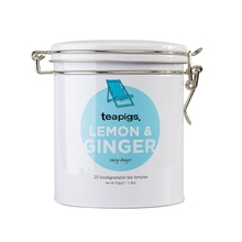 teapigs Lemon & Ginger 20 piramidek - Puszka