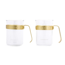 Barista & Co - Metal Framed Cups Electric Gold - Kubki 2 szt.
