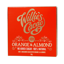 Willie's Cacao - Czekolada - Pomarańcza i migdały - Orange and Almond