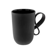 ENDE - Kubek 350ml - Mobius z czarnej porcelany