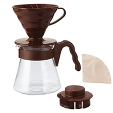 Hario zestaw V60 Pour Over Kit Brown - drip + serwer + filtry
