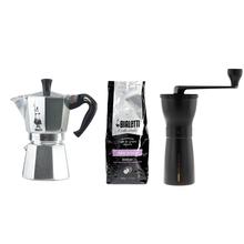 Zestaw Kawiarka + Młynek + Kawa