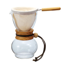 Hario Woodneck Drip Pot Olive Wood 1 Cup - 240ml (outlet)