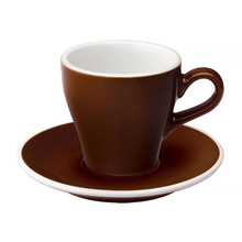Loveramics Tulip - Filiżanka i spodek Cappuccino 180 ml - Brown