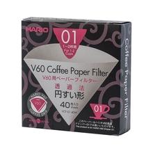 Hario filtry papierowe V60 1fil., 40 szt. |VCF-01-40W| (outlet)