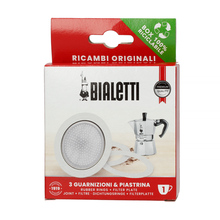 Bialetti - Uszczelka (3 szt.) + sitko do kawiarek aluminiowych Bialetti 1tz