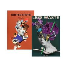 Zestaw książek Less Waste Polska + Coffee Spots Polska