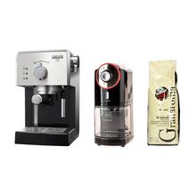 Zestaw Ekspres ciśnieniowy Gran Gaggia + Młynek Melitta + Kawa Caffe Vergnano