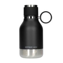 Asobu - Dog Bowl Bottle Stainless Steel Czarna - Butelka z miską dla psa 1,1L