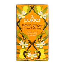 Pukka - Lemon,Ginger & Manuka Honey BIO - Herbata 20 saszetek