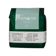 Populus Coffee Guatemala Buena Vista Washed 250g, ziarno (outlet)