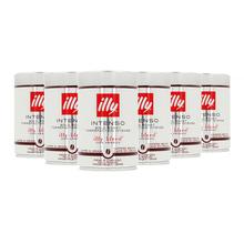 Zestaw 6 puszek kawy ziarnistej Illy Intenso Bold Roast 250g