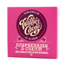 Willie's Cacao - Czekolada 36% - Malina i śmietanka - Raspberries and Cream 50g