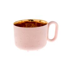 ENDE - Filiżanka 150ml - Oh Joy z różowej porcelany zdobiona złotem