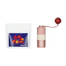 Zestaw: Kawa HAYB Rak'n'Roll Filter + Młynek ręczny Barista Space Różowy