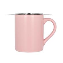 Paper & Tea - Różowy kubek z zaparzaczem do herbaty