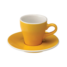 Loveramics Tulip - Filiżanka i spodek Espresso 80 ml - Yellow