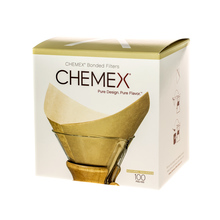 Chemex filtry papierowe kwadratowe - Brązowe - 6, 8, 10 filiżanek