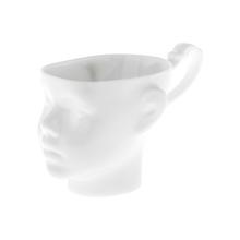ENDE - Kubek 200ml - Główka z białej porcelany