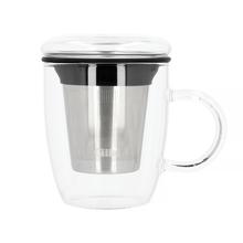 Cilia - Tea Glass with Filter - Szklany kubek z zaparzaczem