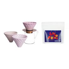Zestaw: Kawa HAYB Rak'n'Roll Filter + Loveramics Pink Dripper Set