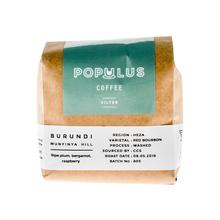 Populus Coffee - Burundi Munuynya Hill