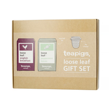 teapigs Loose Leaf Gift Set - Herbata Sypana English Breakfast i Peppermint Leaves z zaparzaczem