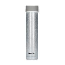 Asobu - Skinny Mini Glitter Srebrny - Butelka termiczna 230 ml