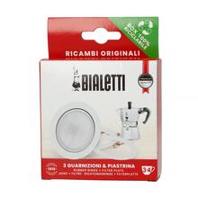 Bialetti - Uszczelka (3 szt.) + sitko do kawiarek aluminiowych Bialetti 3-4tz