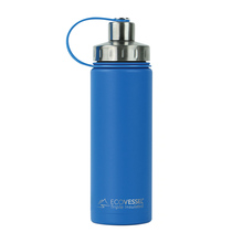 EcoVessel potrójnie izolowana butelka BOULDER Hudson Blue 600 ml (outlet)