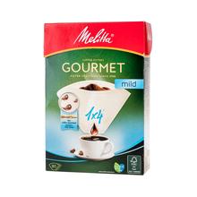 Melitta papierowe filtry do kawy Gourmet Mild 1x4 - białe - 80 sztuk