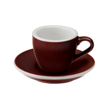 Loveramics Egg - Filiżanka i spodek Espresso 80 ml - Brown