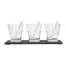 Bialetti - Zestaw 3 szklanek z podstawką Iced Coffee