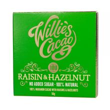 Willie's Cacao - Czekolada - Rodzynki i orzechy laskowe - Raisin and Hazelnut 50g