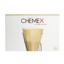 Chemex - Filtry papierowe brązowe, niezłożone 3 filiżanki