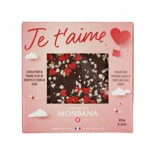 Monbana Walentynkowa Czekolada « JE T'AIME » 85g Message Chocolate Bar « JE T'AIME » (outlet)