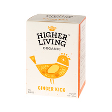 Higher Living Ginger Kick - herbata - 15 saszetek