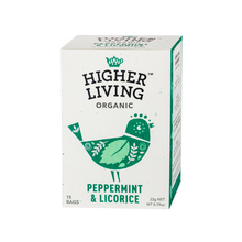 Higher Living Peppermint & Licorice - herbata - 15 saszetek