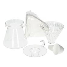 Hario - V60 Glass Brewing Kit - Zestaw szklany dripper + serwer + filtry