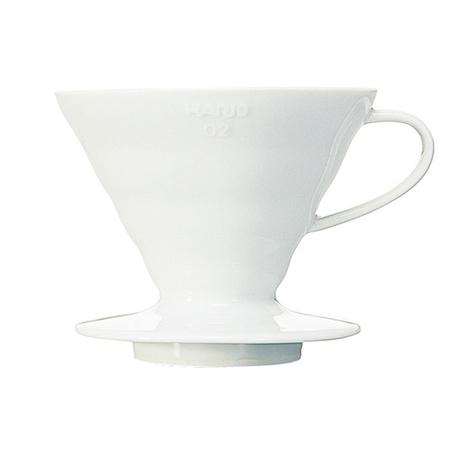 Hario - Bloom - ceramiczny Drip V60-02 Biały + 40 filtrów