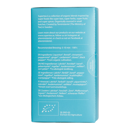 Teministeriet - Supertea Liquorice Fennel Digest - Herbata 20 Torebek