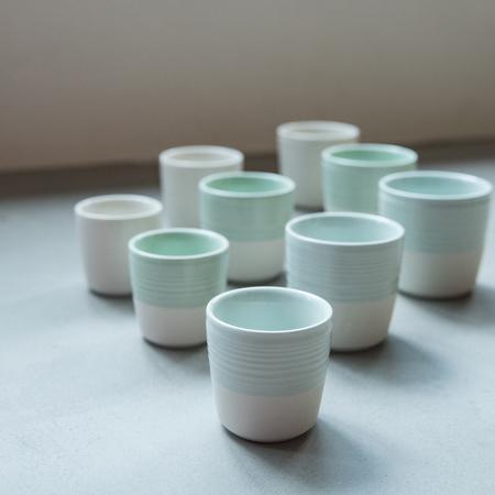 Loveramics Dale Harris - Kubek 150ml - Flat White Cup - Caledon Green