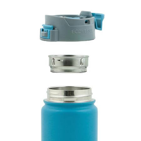 EcoVessel - Butelka termiczna Perk - Srebrna 473 ml