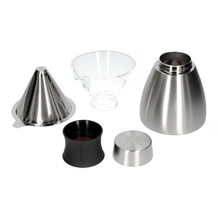 Asobu - Pourover Insulated Coffee Maker - Srebrny / Czarny