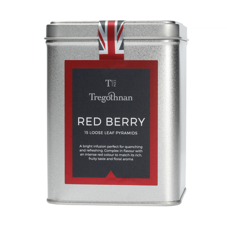 Tregothnan - Red Berry Tea - Herbata 15 piramidek - Puszka