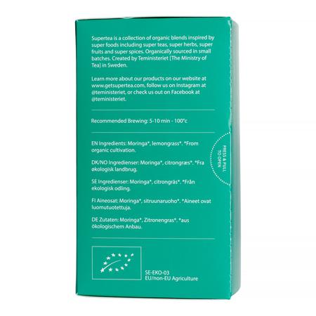 Teministeriet - Supertea Moringa Organic - Herbata 20 Torebek