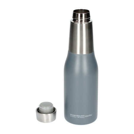 Asobu - Oasis Water Bottle Szary - Butelka termiczna 600 ml