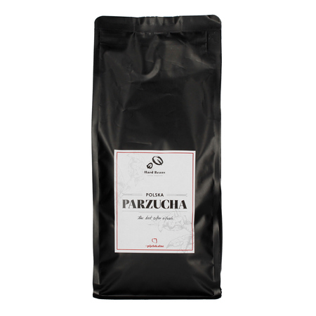 Hard Beans Polska Parzucha 1kg, kawa ziarnista (outlet)